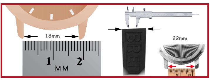 Bracelet de silicone horloge de plongeur Outil pour horloger horlogerie Pince Bergeon barrettes à ressort