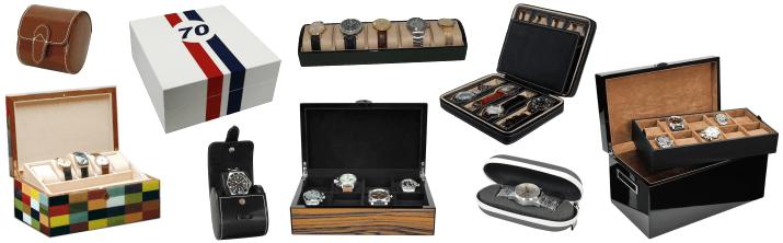 Coffrets pour montres Coffret Etui Accessoires pour montres Remontoirs horloger Étalage