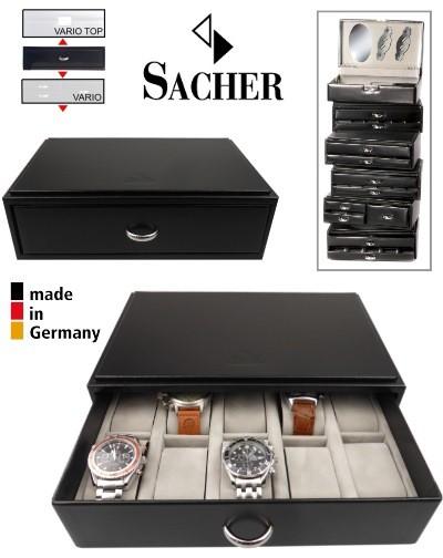 Coffret empilable pour 10 montres SACHER VARIO MODUL 10S
