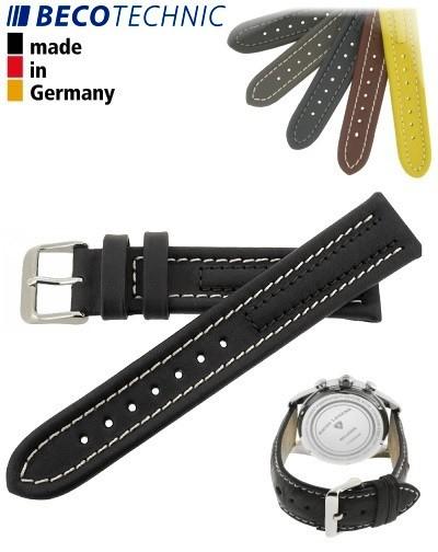 Bracelet de montre Arizona 24mm noir / acier INOX