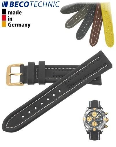 Bracelet de montre Arizona 24mm anthracite / plaqué or