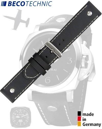 Bracelet de montre en veau CHRONO 26mm noir