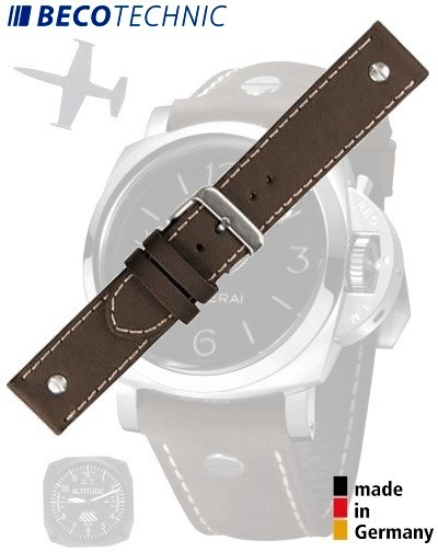 Bracelet de montre en veau CHRONO 26mm marron