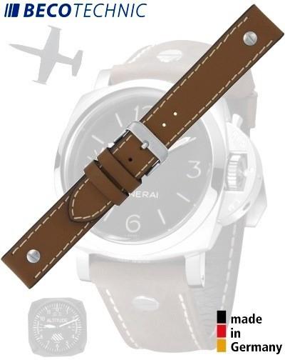 Bracelet de montre en veau CHRONO 26mm brun