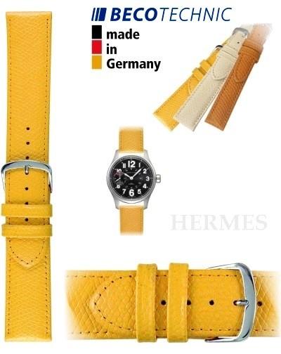 Bracelet de montre HERMES 14mm jaune / acier
