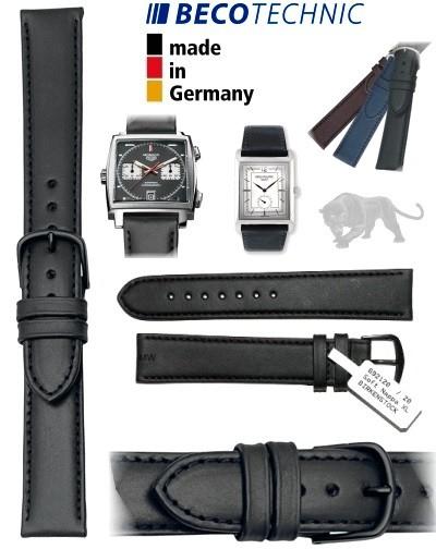 Bracelet montre en cuir ALL BLACK NAPPA 24mm noir