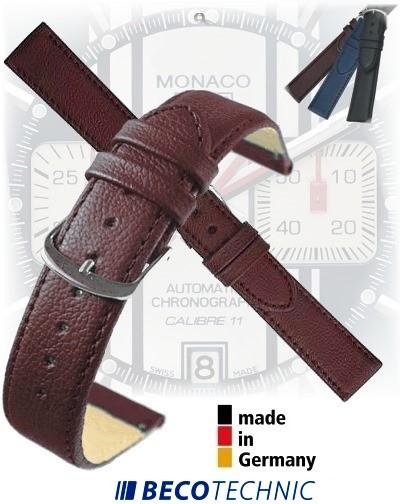 Bracelet montre en cuir NAPPA brun 24mm Inox