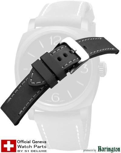 Bracelet de montre cuir ROYAL AERONAUTICAL 24 noir