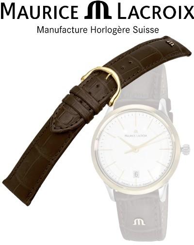 Bracelet de montre MAURICE LACROIX LOISIANA brun/or 14