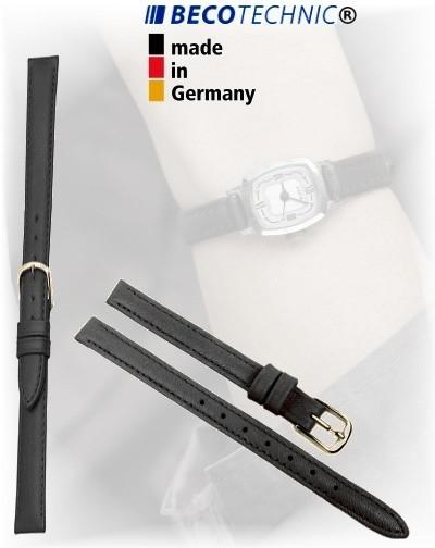 Beco Technic POLO G bracelet de montre en cuir noir de 10mm