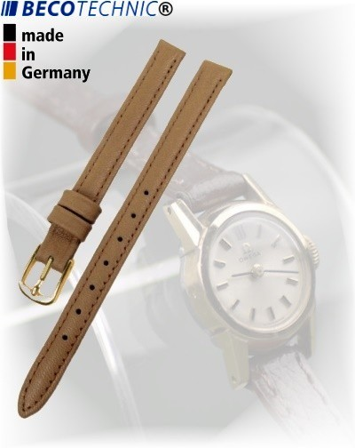 Beco Technic POLO G bracelet de montre en cuir beige 8mm