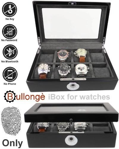 Boite a montre BULLONGÈ iBOX 8, verrouillage par empreinte digitale