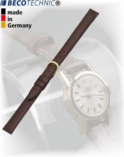 Beco Technic POLO G bracelet de montre cuir brun foncé 8mm