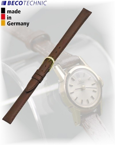 Beco Technic POLO G bracelet de montre cuir brun 10mm