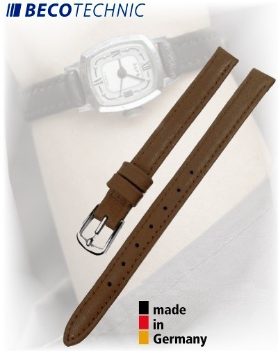 Beco Technic POLO S bracelet de montre cuir brun 10mm