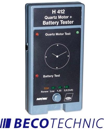 Testeur de moteur à quartz et de batterie H 412 Beco Technic